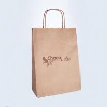 Пакет бумажный с крученными ручками/ крафт 33*24*11 TM ChocoLatte