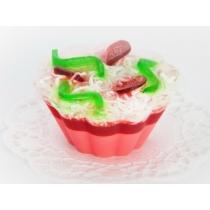 Мыльное ассорти/пирожное: ВИШНЕВЫЙ ДЕСЕРТ, 90 гр/шт