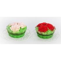 Мыльное ассорти/пирожное: КОРЗИНКА ЦВЕТОЧНАЯ 130 гр/шт