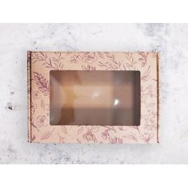 "Подарочная коробка с прозрачным окном ""Шкатулка"" крафт"