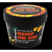 Мыло-мусс для душа манго и киви, 110 мл