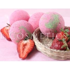 Бурлящие шарики для ванн Земляника с пеной, упаковка 6шт