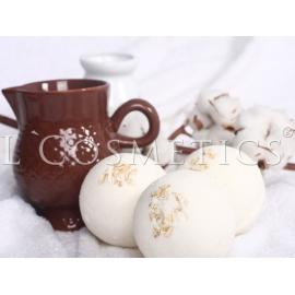 Бурлящие шарики для ванн Козье молоко с пеной, упаковка 6шт