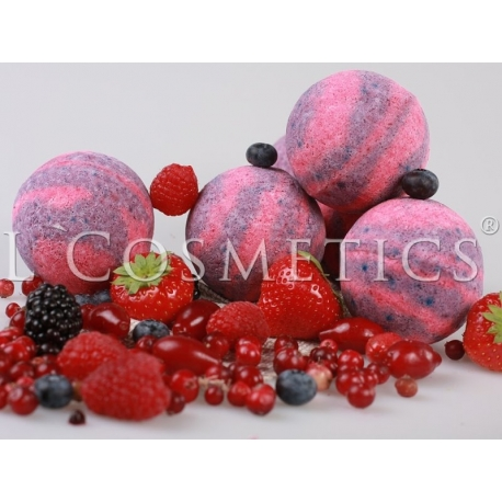 Бурлящие шарики для ванн Красные ягоды с пеной, упаковка 6шт