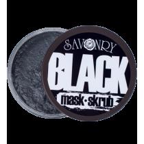 Маска скраб для лица BLACK MASK угольная, 150 гр