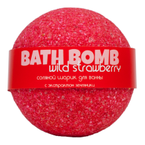 Бурлящий шарик для ванны WILD STRAWBERRY (земляника), шт
