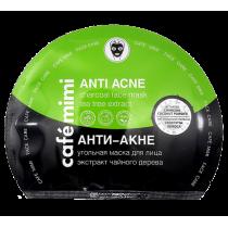 Угольная тканевая маска для лица Анти-Акне, 22 гр