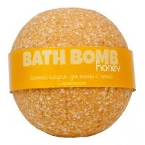 Бурлящий шарик для ванны с пеной HONEY (прополис), 100/120гр