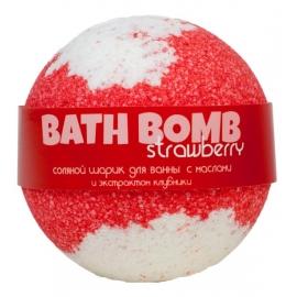 Бурлящий шарик для ванны с маслами STRAWBERRY (клубника), 100/120гр