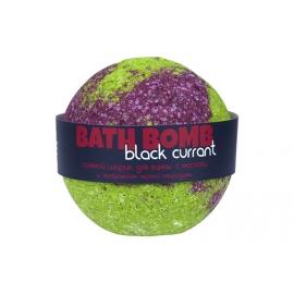 Бурлящий шарик для ванн Black currant (черная смородина с маслами), 100/120 г