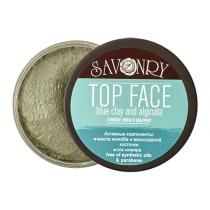 Маски для лица TOP FACE с голубой глиной и альгинатом, 150 гр