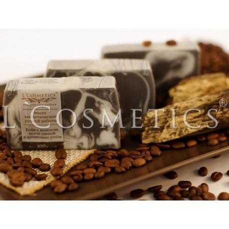 Мыло фасованное Кофе с молоком с белой глиной, упаковка 10шт
